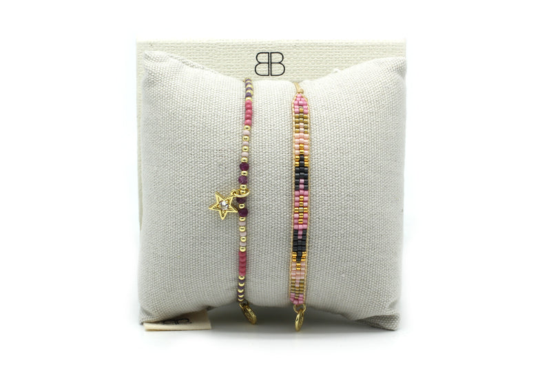 Tehran 2 Layered Bracelet Stack - Boho Betty