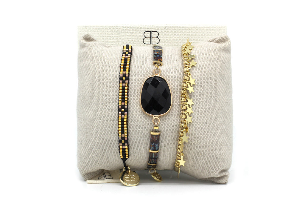 Napoli 3 Layered Bracelet Stack - Boho Betty