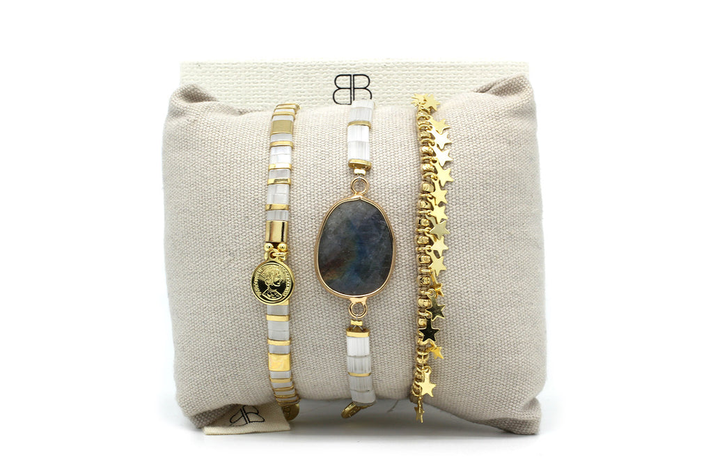 Tunis 3 Layered Bracelet Stack - Boho Betty