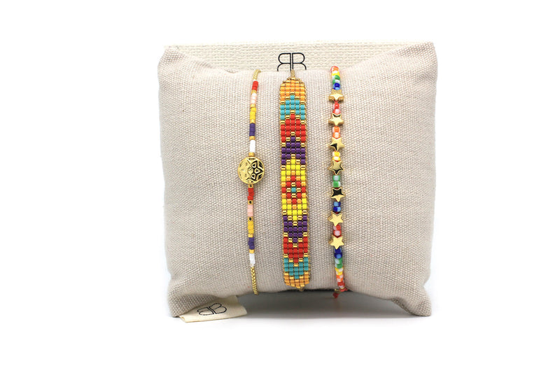 Nightingale 3 Layered Bracelet Stack - Boho Betty