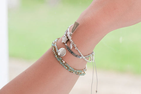 Styx Green Crystal Wrap Bracelet