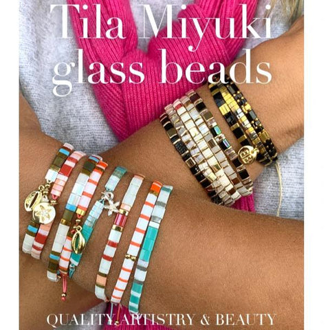 Invincible Tila Bead Stretch Bracelet