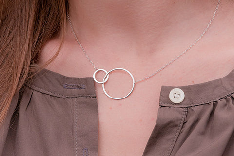 Tokay Sterling Silver Double Circle Necklace