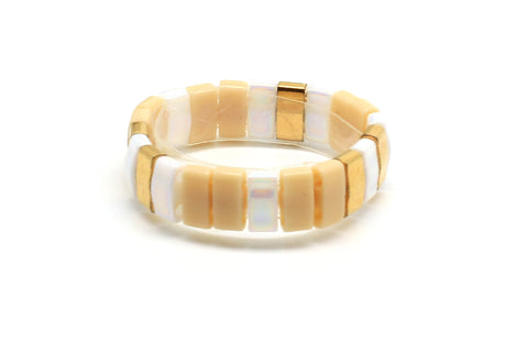 Unzen Gold Tila Bead Ring