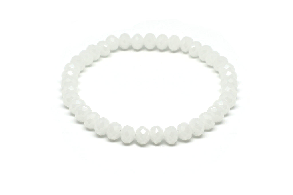 Valcik5 White Crystal Stretch Bracelet