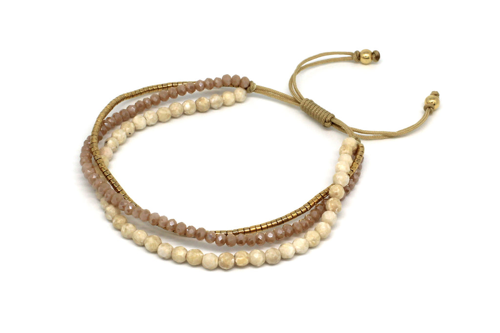 Zamba Neutral  3 layer Bracelet