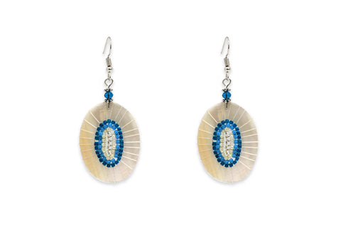 Pagode Aqua Mother of Pearl Earrings