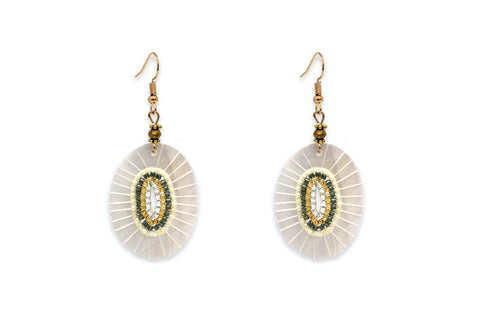 Pagode Gold Mini Bead Shell Earrings