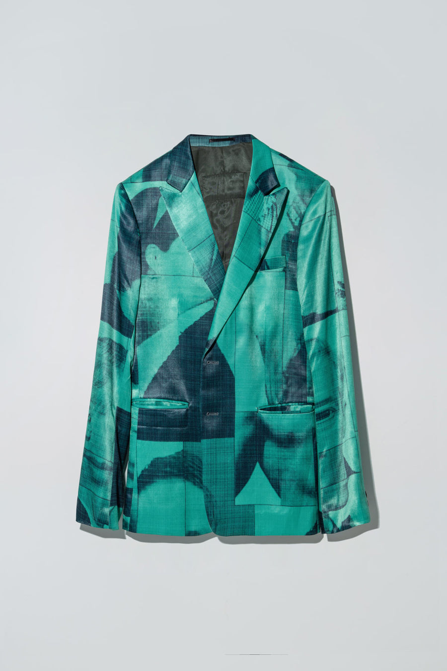 Black List Print Liberty Blazer Green