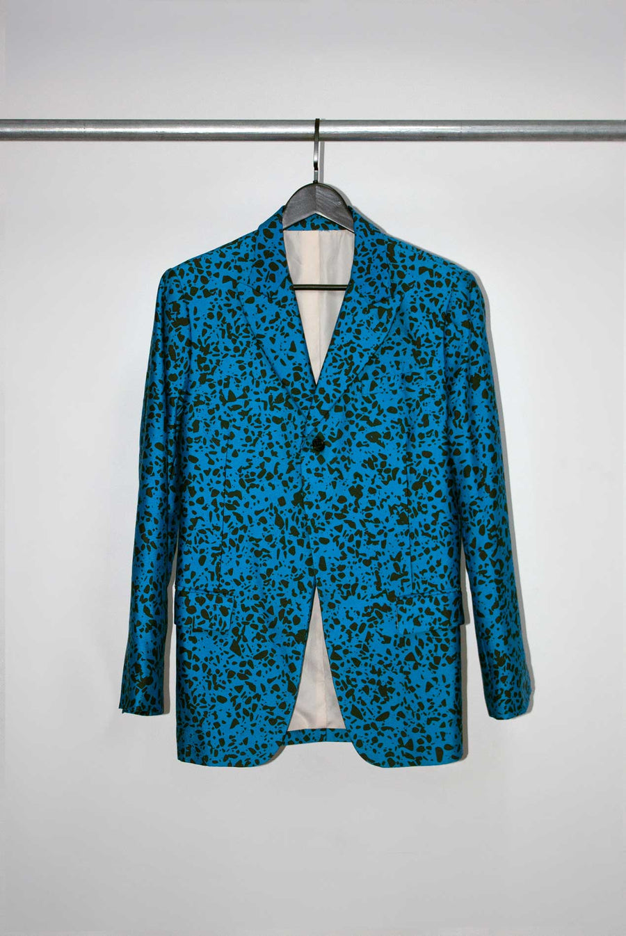 Brunch Suit in Speckled Print Blue