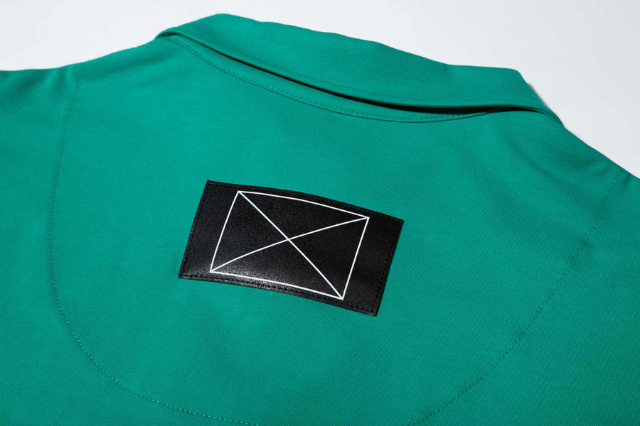 Button-fly Polo Shirt Green