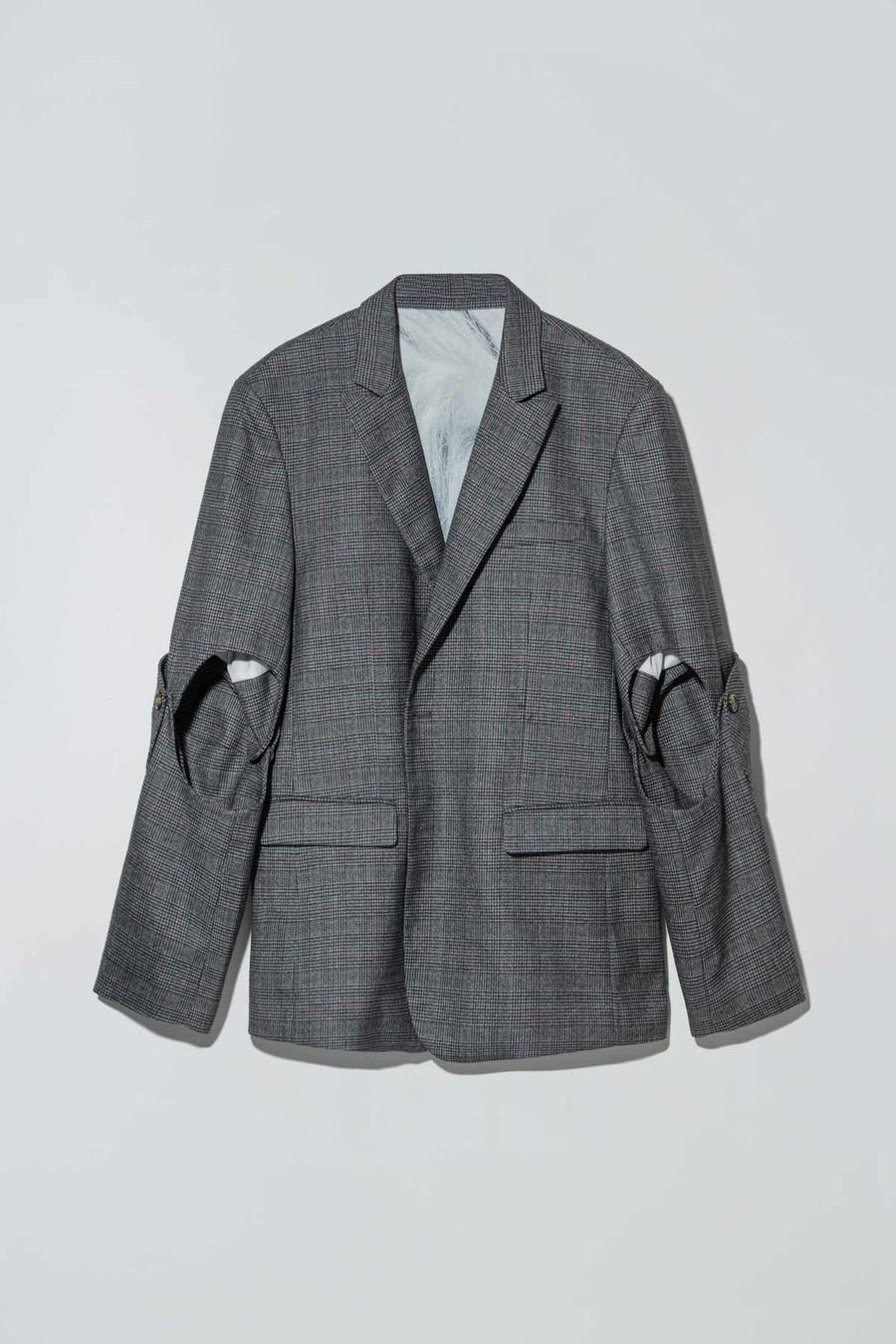 Checkerboards Christian Blazer Grey