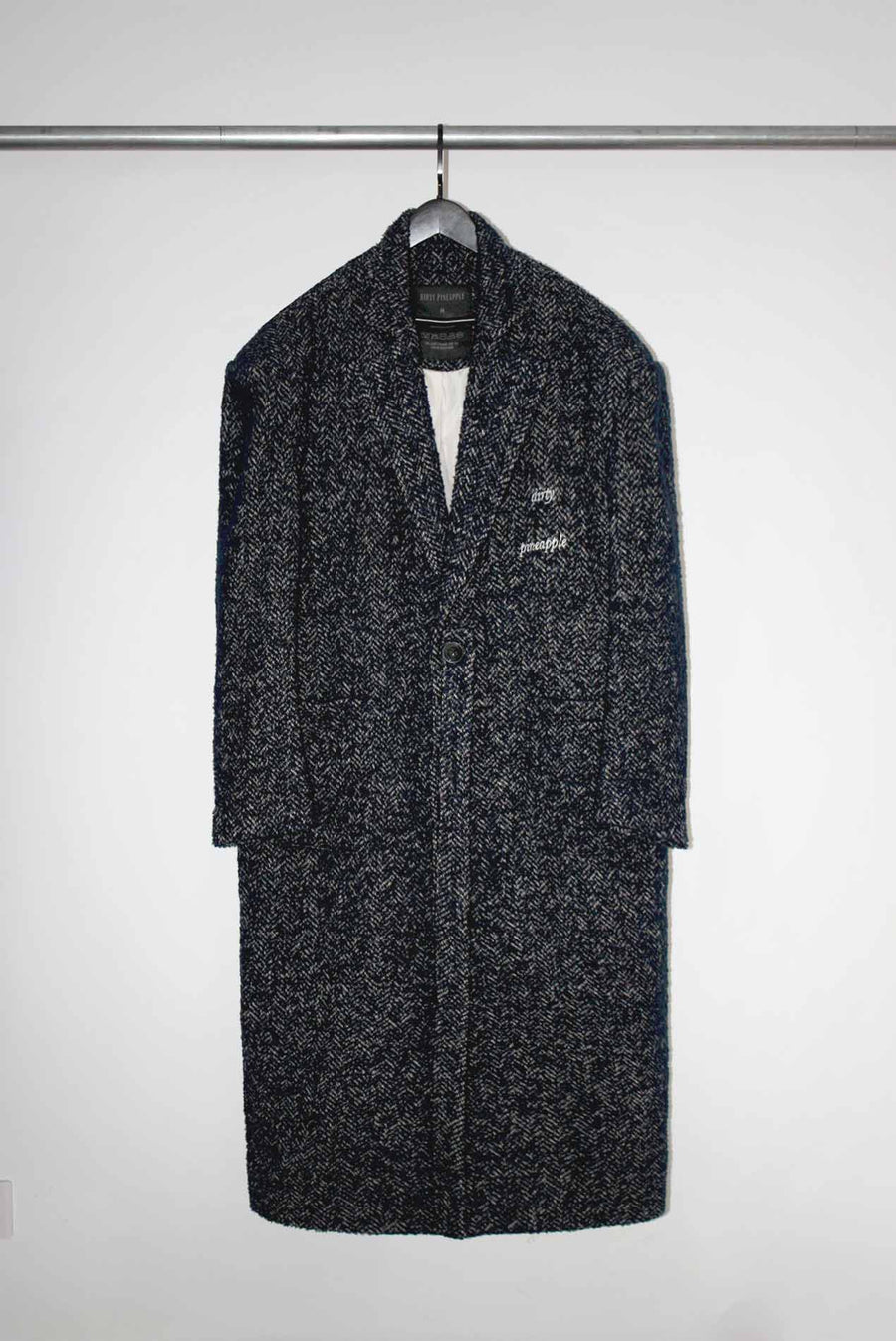 Leon Wool Coat in Dark Blended Blue