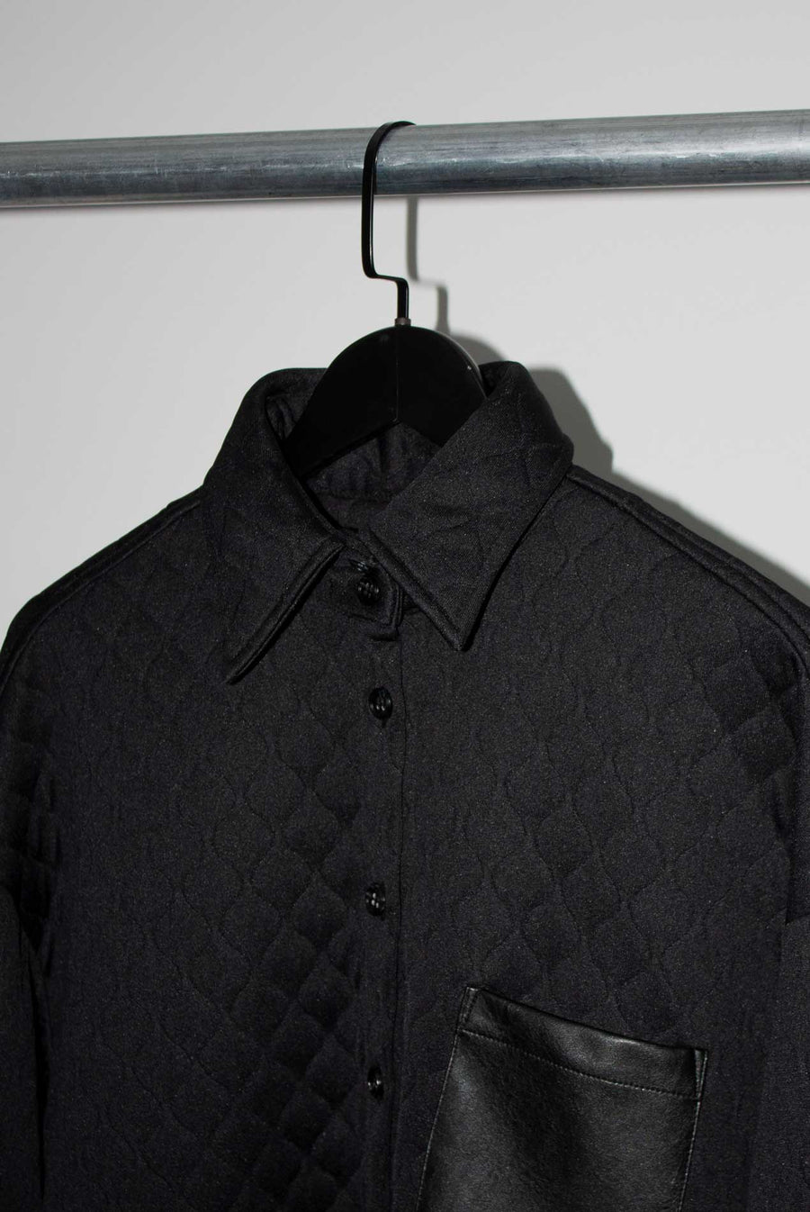 Simmons Shirt Jacket in Black