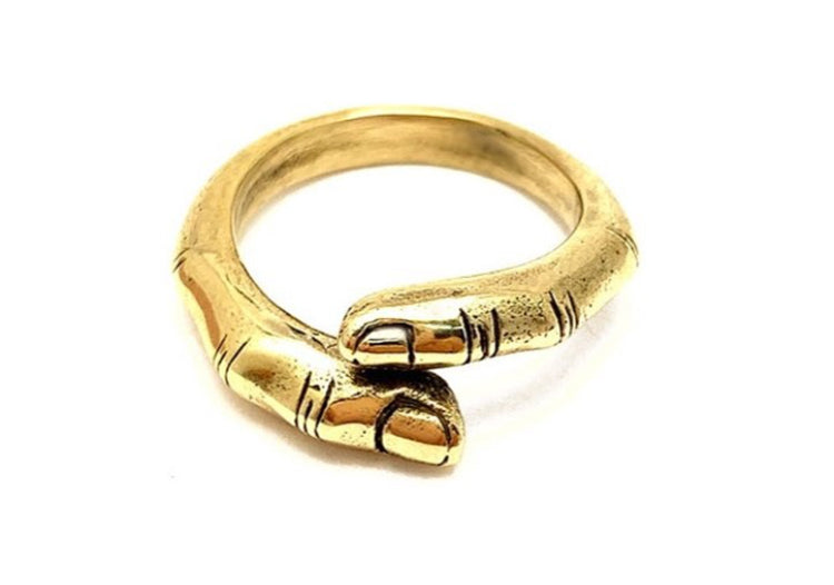 Touch Finger Ring Gold