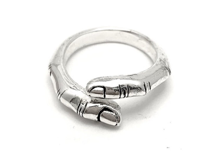 Touch Finger Ring Silver