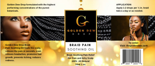 Golden Dew Drop Braid Soothing Oil 4oz