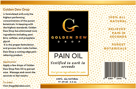 Golden Dew Drop Body Pain Oil, Regular Strength