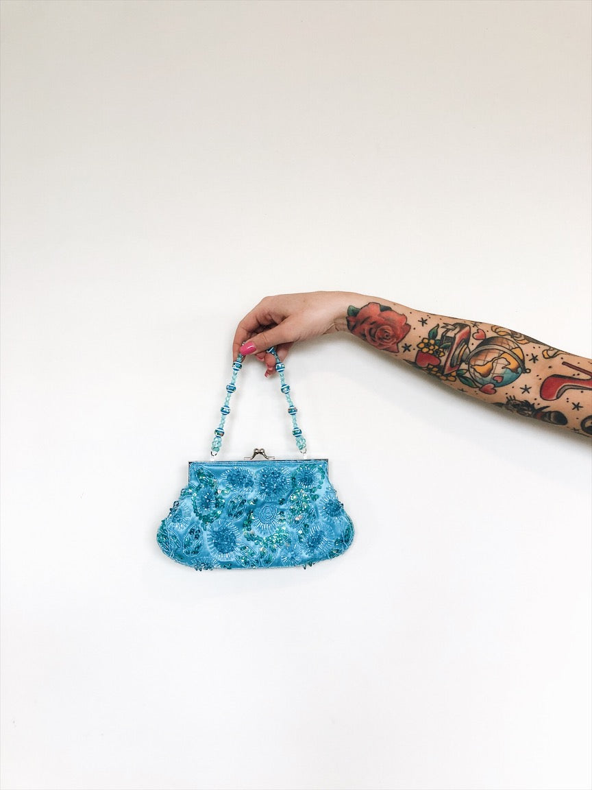 vintage beaded mini bag