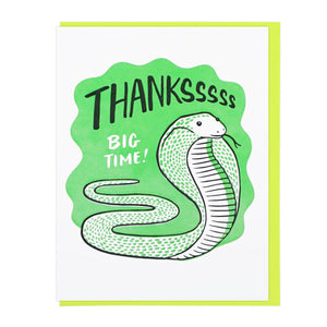 Snake Thank You Card