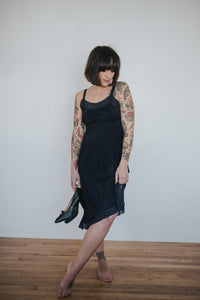 Vintage Navy Slip Dress : Small : The Yves Slip