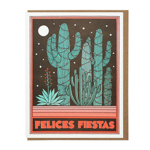 Cactus Holiday Card