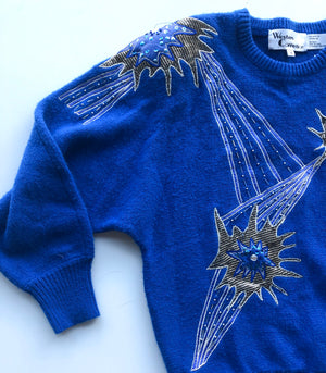 Vintage Sequin and Beaded Sweater : Small Medium : The Western Lights Sweater