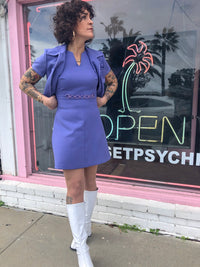 Vintage A Line Dress and Cropped Jacket : XS Small : The Daphne Set