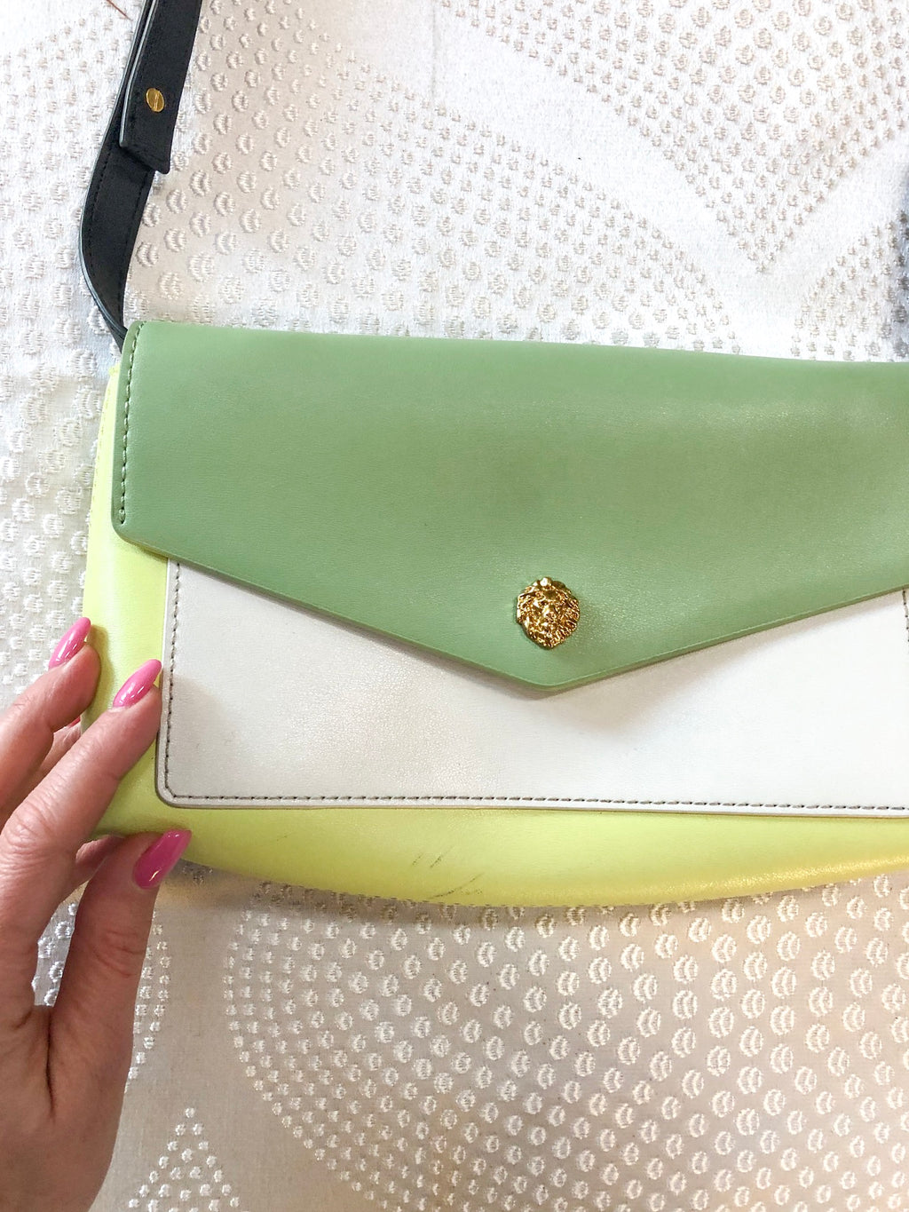 green Anne Klein handbag