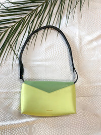 green Anne Klein cross body handbag