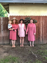 Vintage Dusty Pink Dress with Sash Belt : Large : Alice Dress and Sash