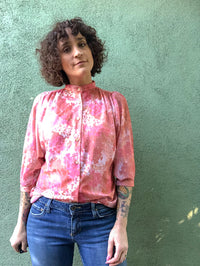 Vintage Pink Floral Shear Blouse : Medium : The Teddi Top