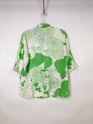 Vintage Floral Kimono Blouse : Medium  : The Quia Top