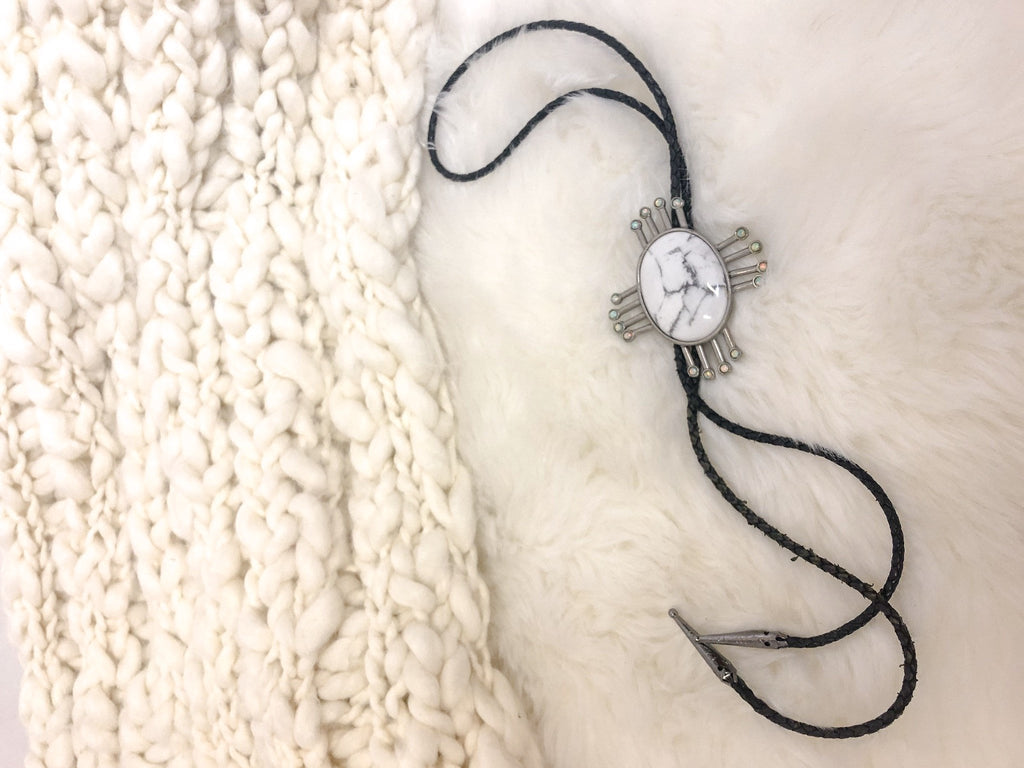 Thrifted Bolo Tie Necklace :: The Bandit Bolo