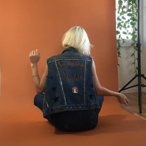 vintage marc jacobs denim vest