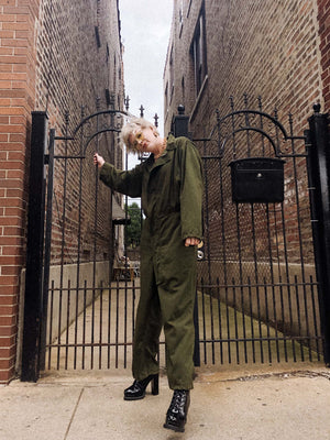 vintage military flight suit