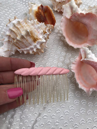 pink 80s hair comb