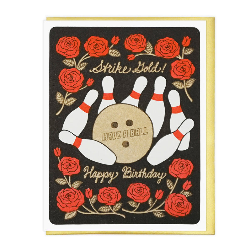 Bowling Birthday Card