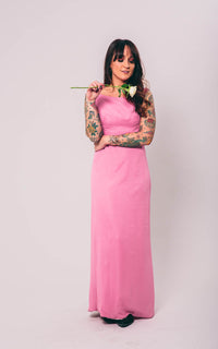 Vintage Pink Formal Maxi Dress : Small : The Susan Dress
