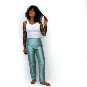Vintage Mint Green Silk Pant : Small Petite : The That's Mrs Draper to Your, Sir Pant