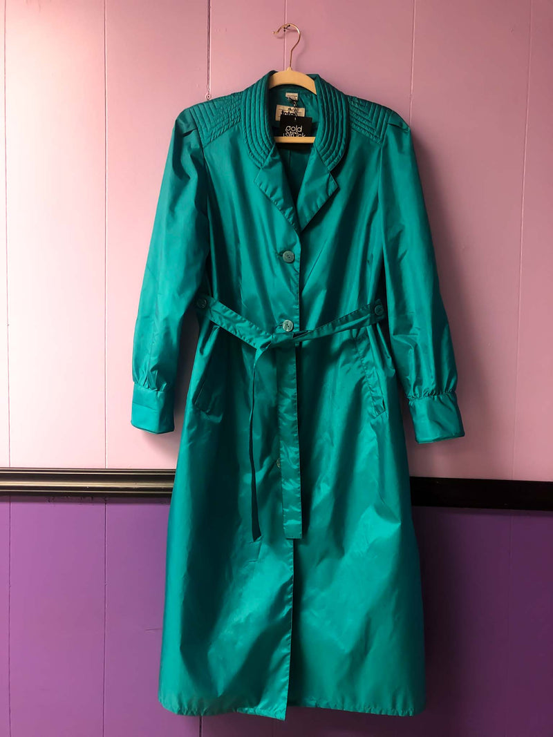 Packable rain trench coat