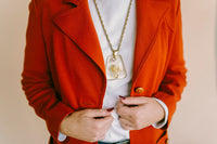Vintage Rust Blazer : Medium : The Butte Knit Jacket