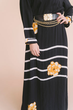 Vintage Floral Maxi : Medium Large : The Chrysanthemum Dress