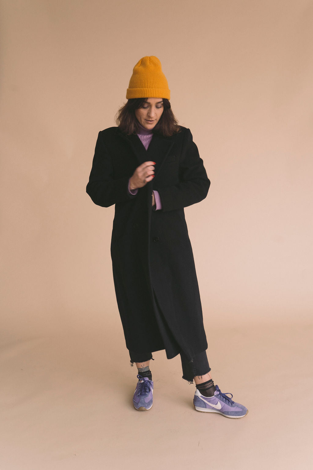 Vintage Black Wool Coat : Small : The Hook Coat
