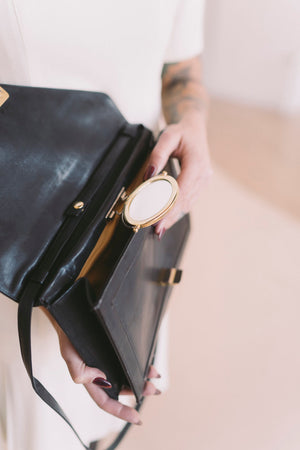 black convertible handbag