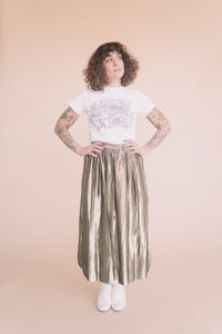 Vintage Gold Lame' Party Skirt : Small Medium : The Shimmy Skirt