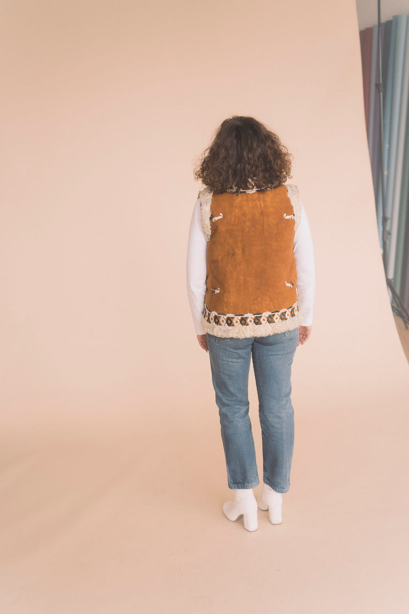 vintage embroidered vest