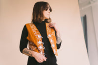 Vintage Rust Embroidered Vest : Medium : The Vihuela Vest