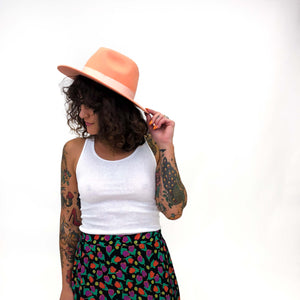 Lack of Color Peach Wool Fedora : Small :  The Sunset Palms Hat