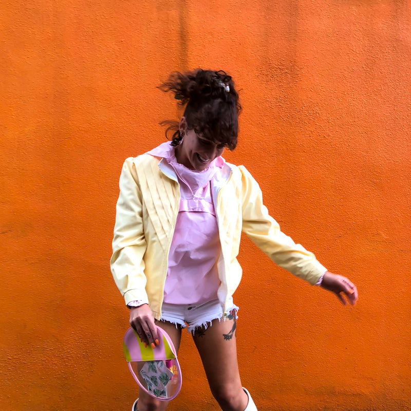 Vintage Pastel Pink Windbreaker : Small : The Alp Pullover